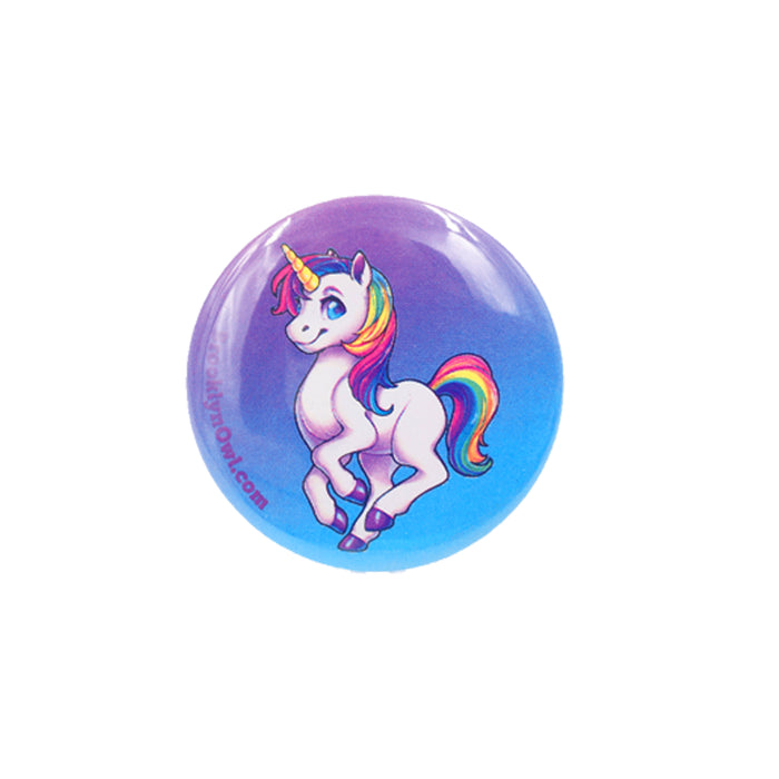 Rainbow Unicorn Full Body Button 1.5""
