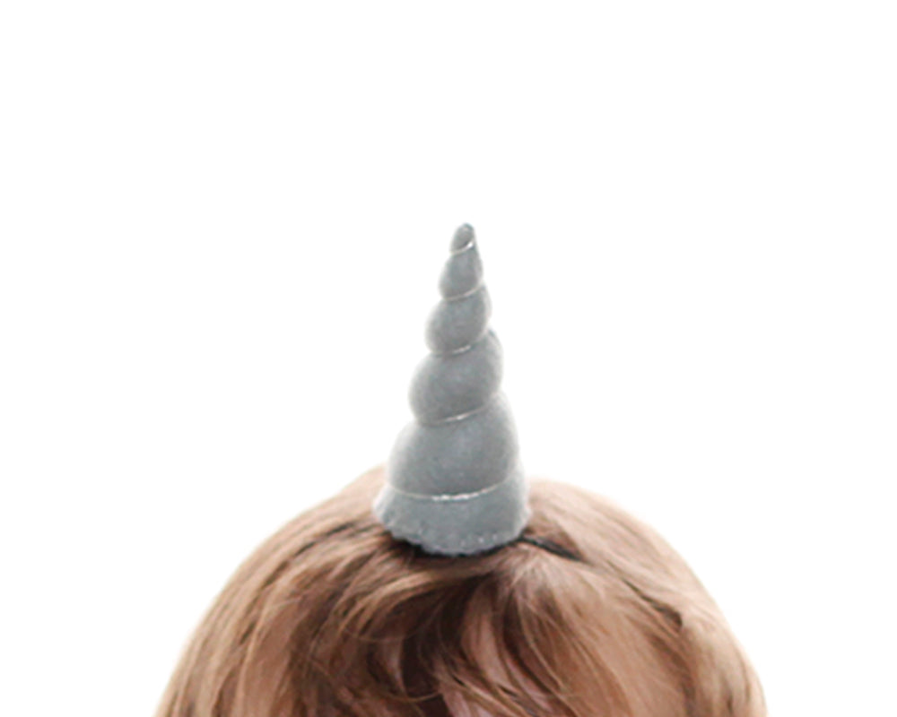 Grey Felt Unicorn Horn Tween Size by Brooklyn Owl