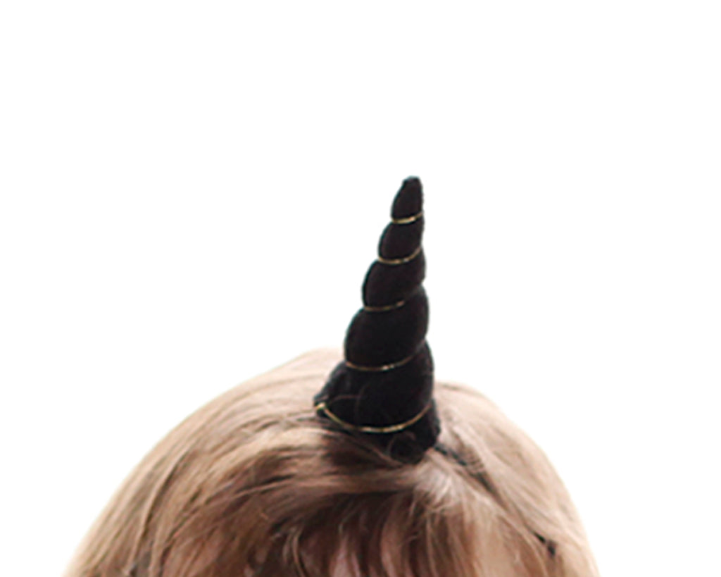 Black Felt Unicorn Horn Tween Size by Brooklyn Owl