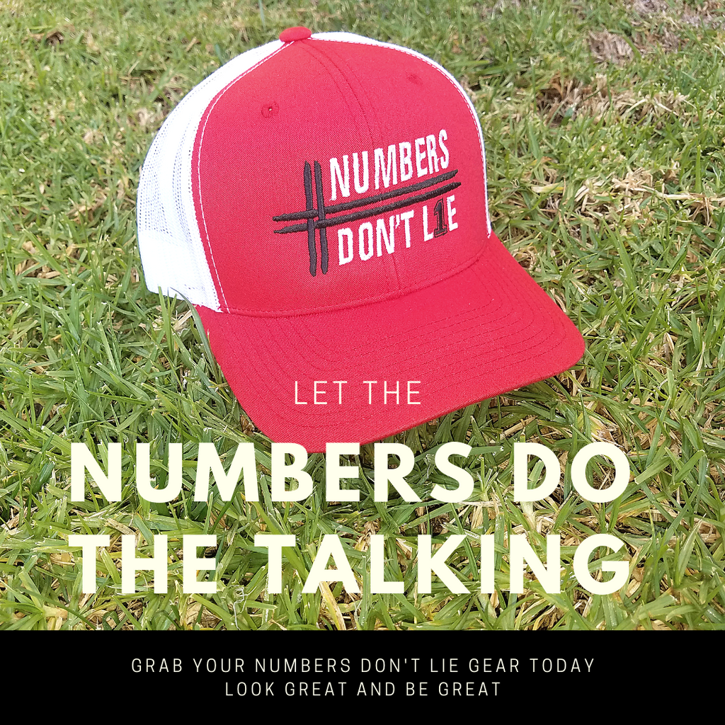 Numbers Don't Lie 2-Tone Hat (Red/White)