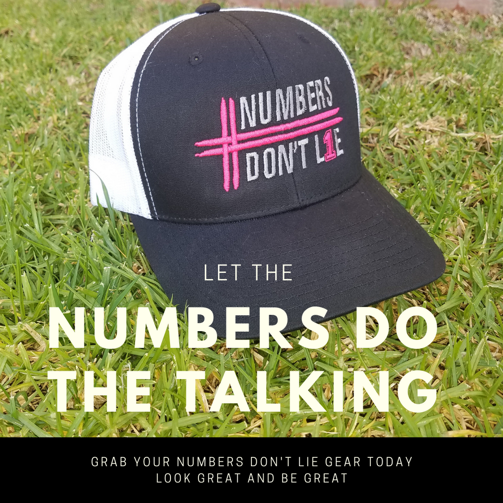 Classic Numbers Don't Lie 2-Tone Hat (Black/White/Pink)