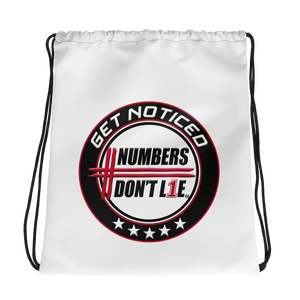 Numbers Don't Lie Drawstring bag