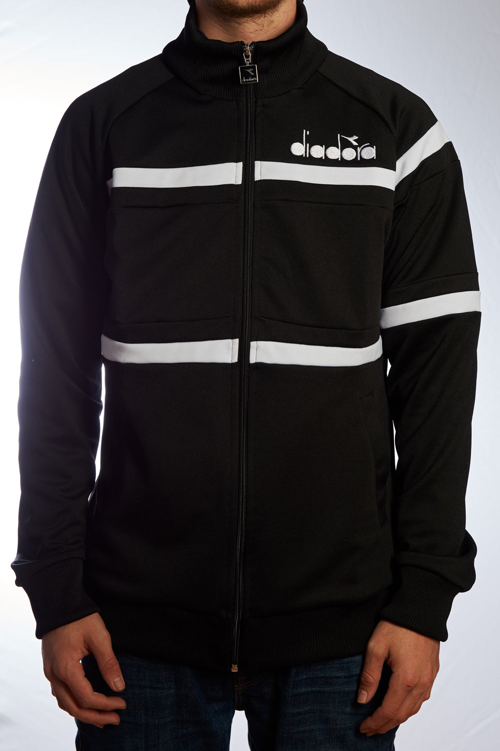 "Track Top ""Diadora"" black/white"