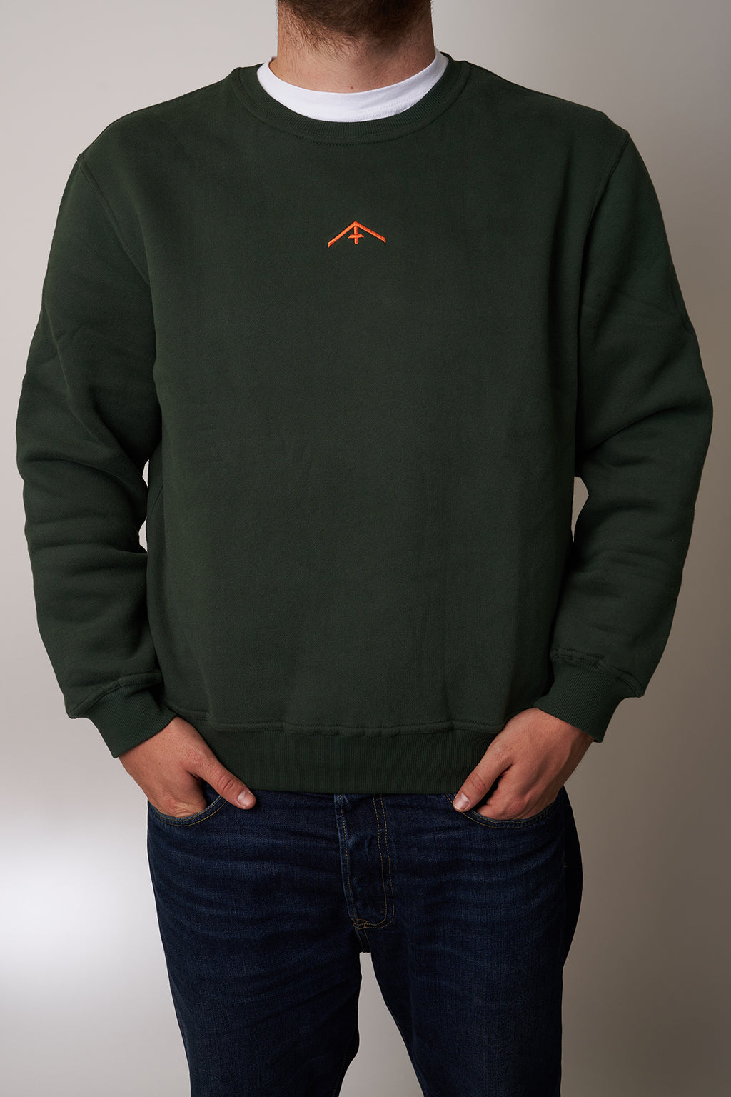 "Sweatshirt Fuchs & Haas ""Backprint"" green"