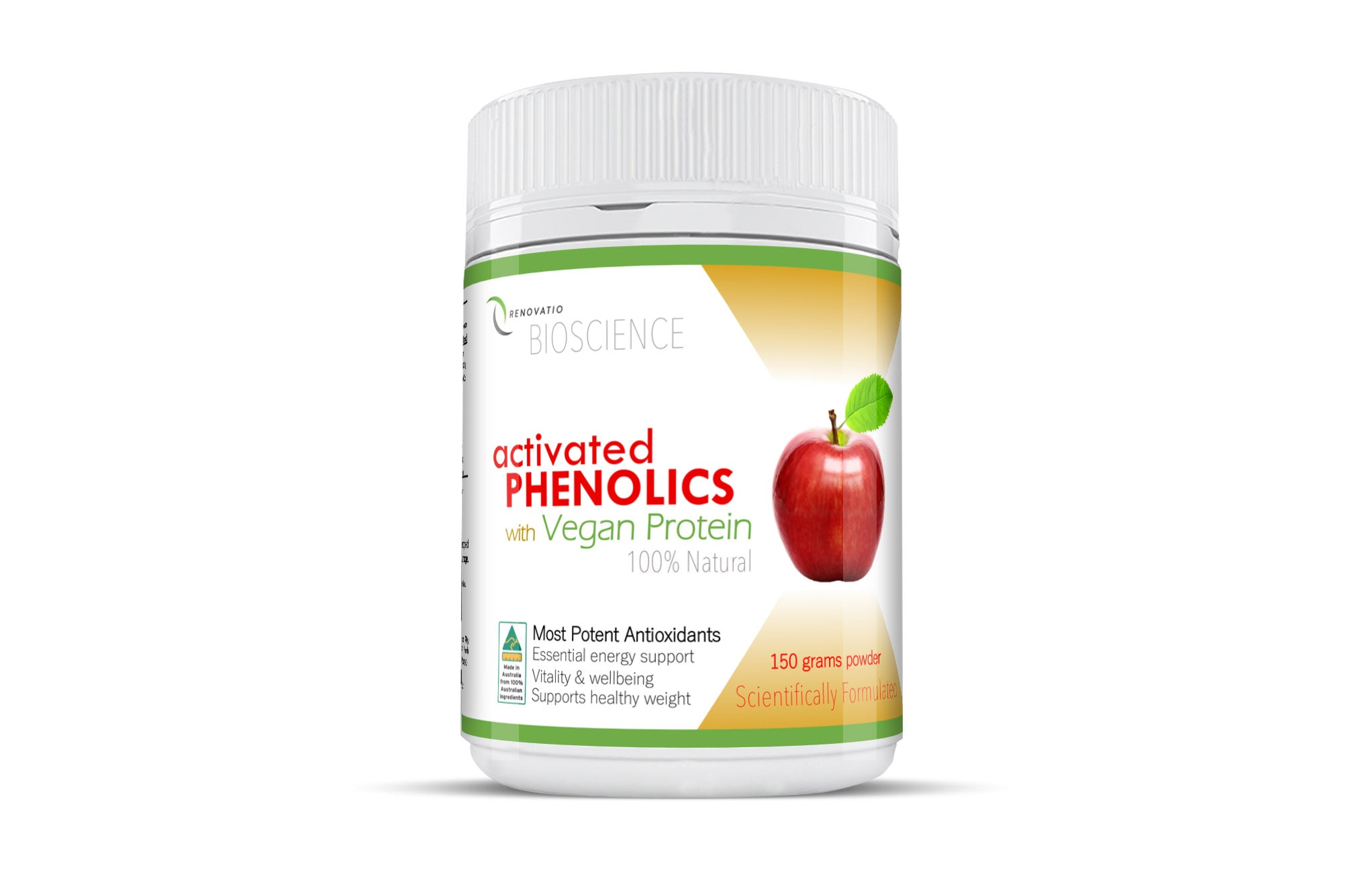--Activated Phenolics with Vegan Protein--