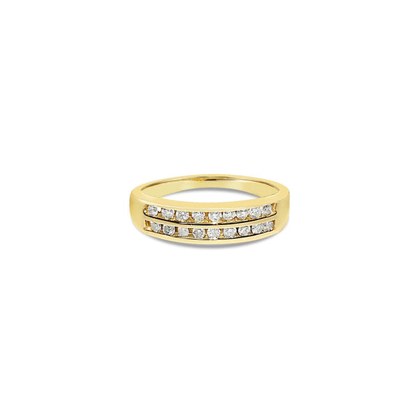 BUONASERA diamond gold ring || BUONASERA bague en or avec diamants
