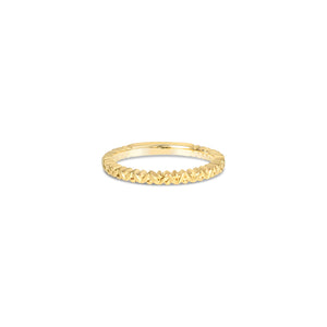 BOTANICAL gold wedding band ||  BOTANICAL alliance en or