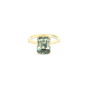VERTA prasiolite and gold ring ||  VERTA bague avec prasiolite en or