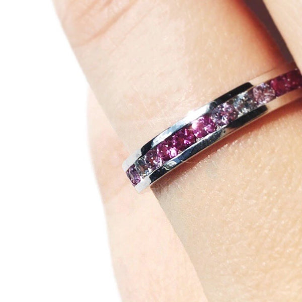 FRAMBOISE sapphires eternity gold ring ||  FRAMBOISE bague éternité saphirs en or