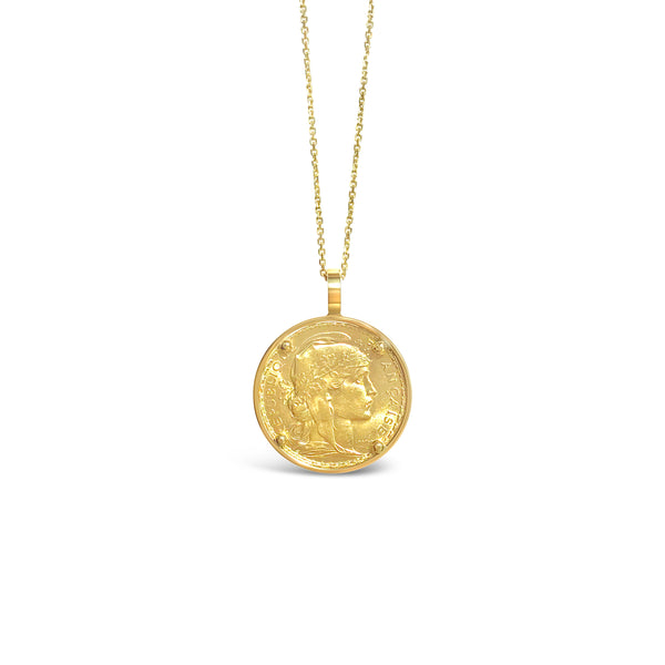 MEMOIRE gold setting for sentimental coins ||  MEMOIRE serti en or pour les pièces sentimentales
