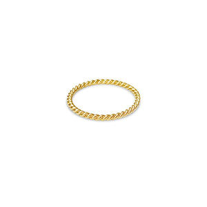 TWIST gold twisted ring ||  TWIST bague torsadée en or