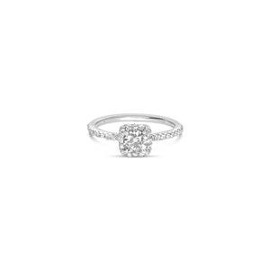 CARRE square diamond halo ring ||  CARRE bague carré halo avec diamants