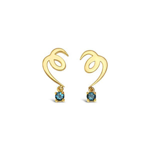 CLEOPATRA earrings gold and topaz ||  CLEOPATRA boucles d'oreilles or et topaze