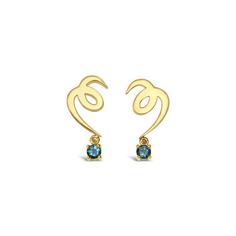 Earrings gold and topaz ||  Boucles d'oreilles or et topaze