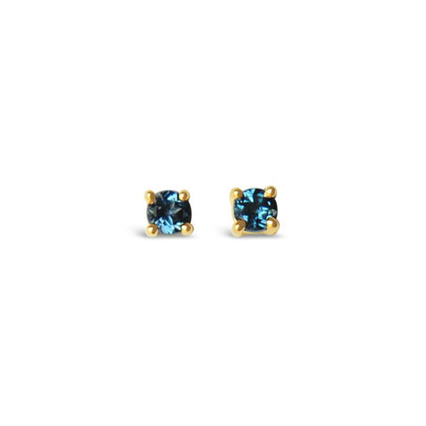 Topaz gold earrings ||  Boucles d'oreilles en or avec topazes