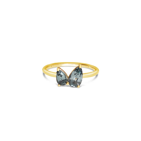 TORRENA gold ring with grey spinel || TORRENA bague en or avec spinelle gris