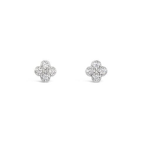 CLOVE gold and diamonds earrings || CLOVE boucles d'oreilles en or avec diamants