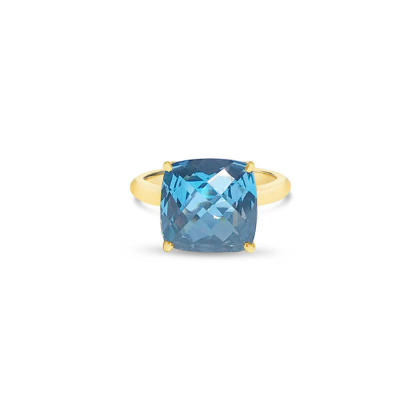 MARSEILLE gold ring with topaz ||  MARSEILLE bague en or avec topaze
