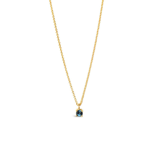 STELLA gold and topaz necklace ||  STELLA collier en or avec topaze