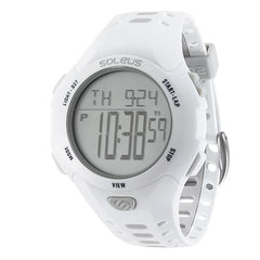 SOLEUS CONTENDER DIGITAL RUNNING WATCH - WHITE/GRAY