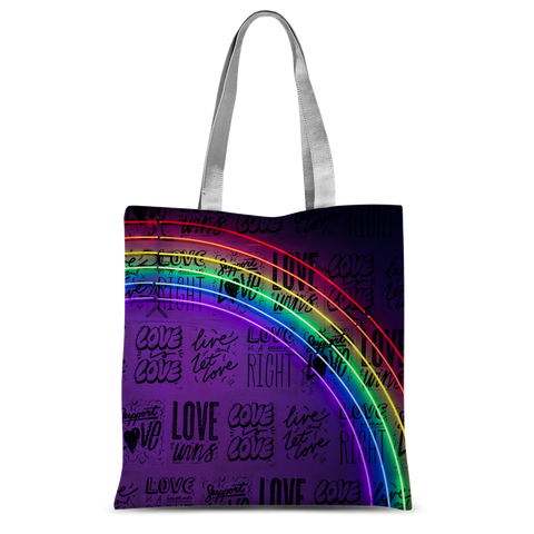 "alloverprint.it Accessories 15""x16.5"" Overall Print Tote Bag - Love Is Love"