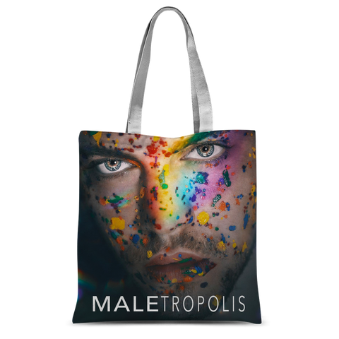 "alloverprint.it Accessories 15""x16.5"" Overall Print Tote Bag - Maletropolis Pride Face"