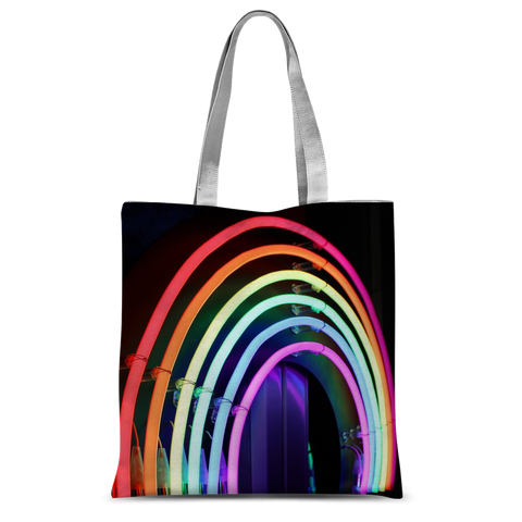"alloverprint.it Accessories 15""x16.5"" Overall Print Tote Bag - Neon Rainbow"