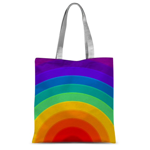 "alloverprint.it Accessories 15""x16.5"" Overall Print Tote Bag - Pride Rainbow"
