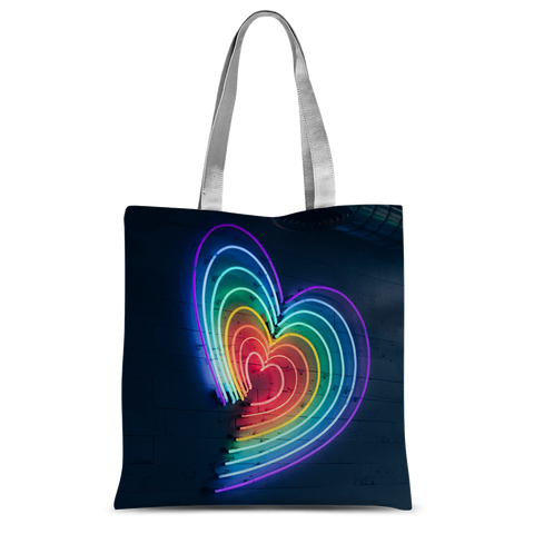 "alloverprint.it Accessories 15""x16.5"" Overall Print Tote Bag - Rainbow Hearts"