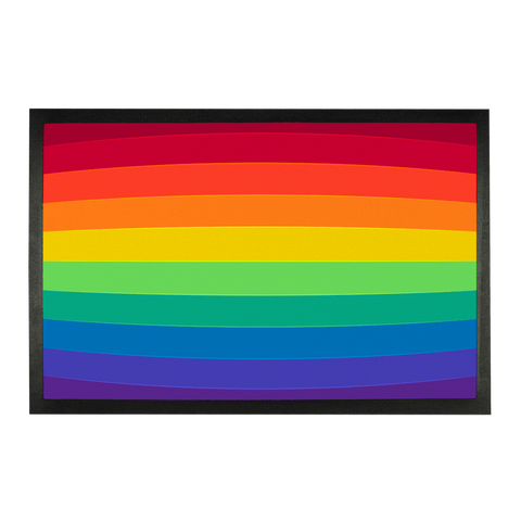 "alloverprint.it Accessories 24""x15"" Overall Print Doormat - Pride Flag"