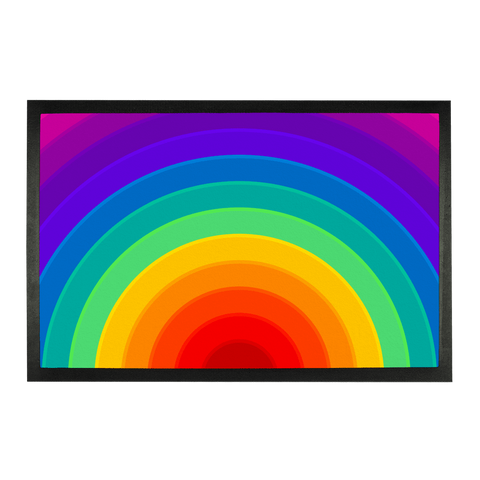 "alloverprint.it Accessories 24""x15"" Overall Print Doormat - Pride Rainbow"