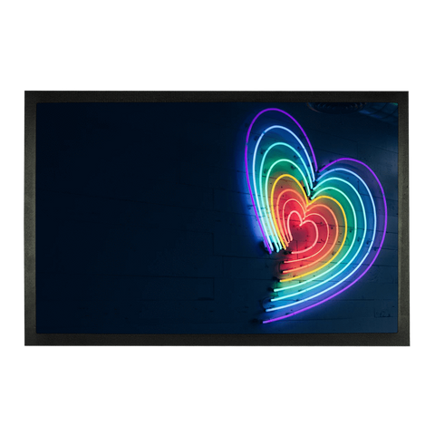 "alloverprint.it Accessories 24""x15"" Overall Print Doormat - Rainbow Hearts"