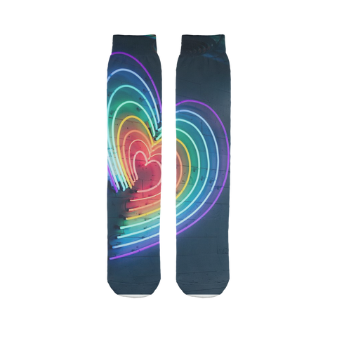 alloverprint.it Accessories 45X10 cm Overall Print Tube Socks - Rainbow Hearts