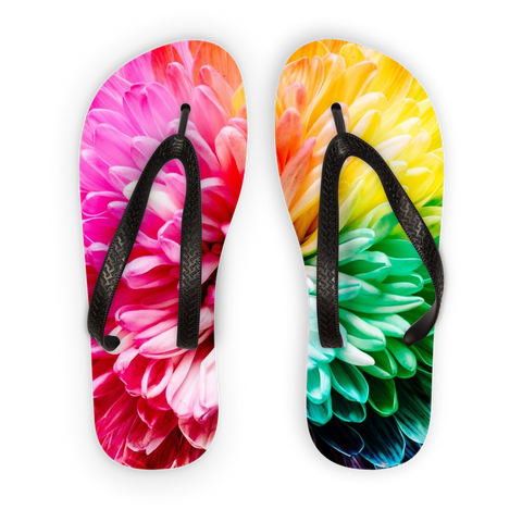 alloverprint.it Accessories Black Strap / S Overall Print Flip Flops - Dahlia