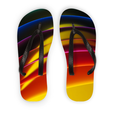 alloverprint.it Accessories Black Strap / S Overall Print Flip Flops - Pride Arc