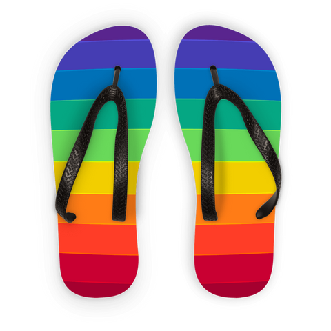 alloverprint.it Accessories Black Strap / S Overall Print Flip Flops - Pride Flag