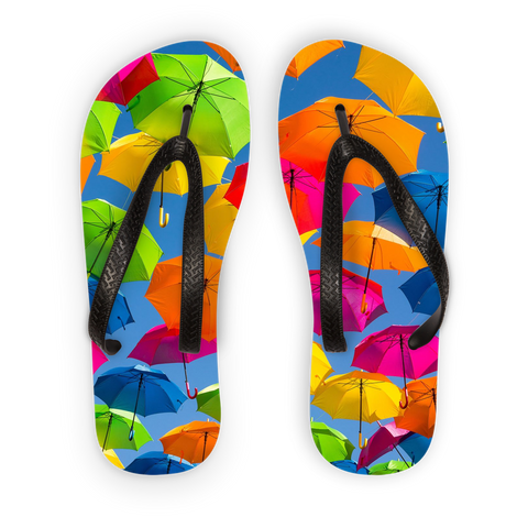 alloverprint.it Accessories Black Strap / S Overall Print Flip Flops - Serious Shade