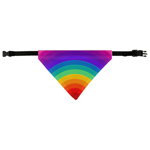 alloverprint.it Apparel Dog Bandana Overall Print Pet Bandana - Pride Rainbow