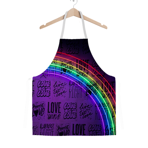 alloverprint.it Apparel One Size Overall Print Apron - Love Is Love