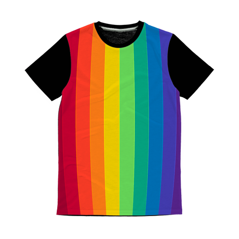 alloverprint.it Apparel XS Overall Print Panel Tee Shirt - Pride Flag