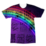 alloverprint.it Apparel XS Overall Print Recycled Tee Shirt - Love Is Love