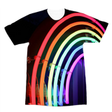 alloverprint.it Apparel XS Overall Print Recycled Tee Shirt - Neon Rainbow
