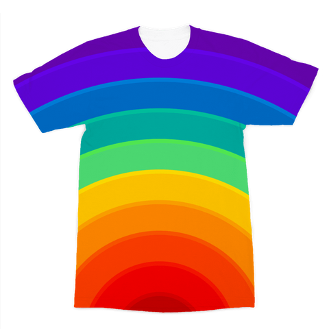alloverprint.it Apparel XS Overall Print Recycled Tee Shirt - Pride Rainbow