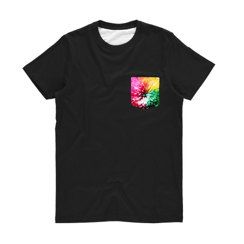 alloverprint.it Apparel XS Printed Pocket Tee Shirt - Dahlia