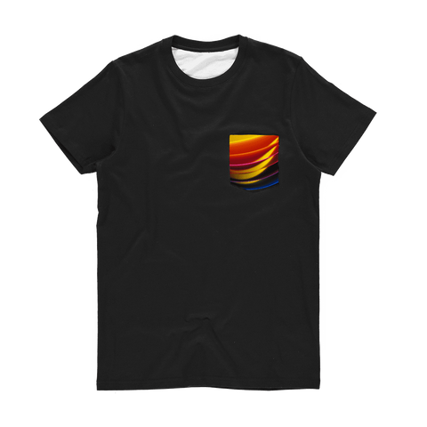 alloverprint.it Apparel XS Printed Pocket Tee Shirt - Pride Arc
