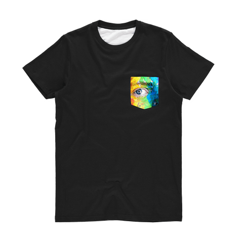 alloverprint.it Apparel XS Printed Pocket Tee Shirt - Pride Eyes