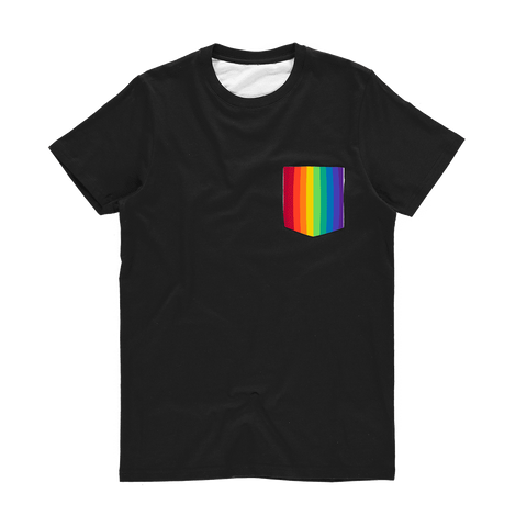alloverprint.it Apparel XS Printed Pocket Tee Shirt - Pride Flag