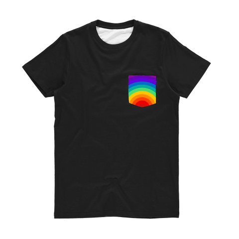 alloverprint.it Apparel XS Printed Pocket Tee Shirt - Pride Rainbow