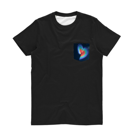 alloverprint.it Apparel XS Printed Pocket Tee Shirt - Rainbow Hearts