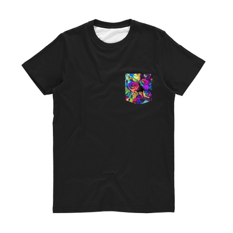 alloverprint.it Apparel XS Printed Pocket Tee Shirt - Roses